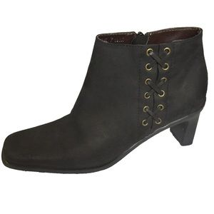 ETIENNE AIGNER | Saddle Square Toe Ankle Boots 7.5